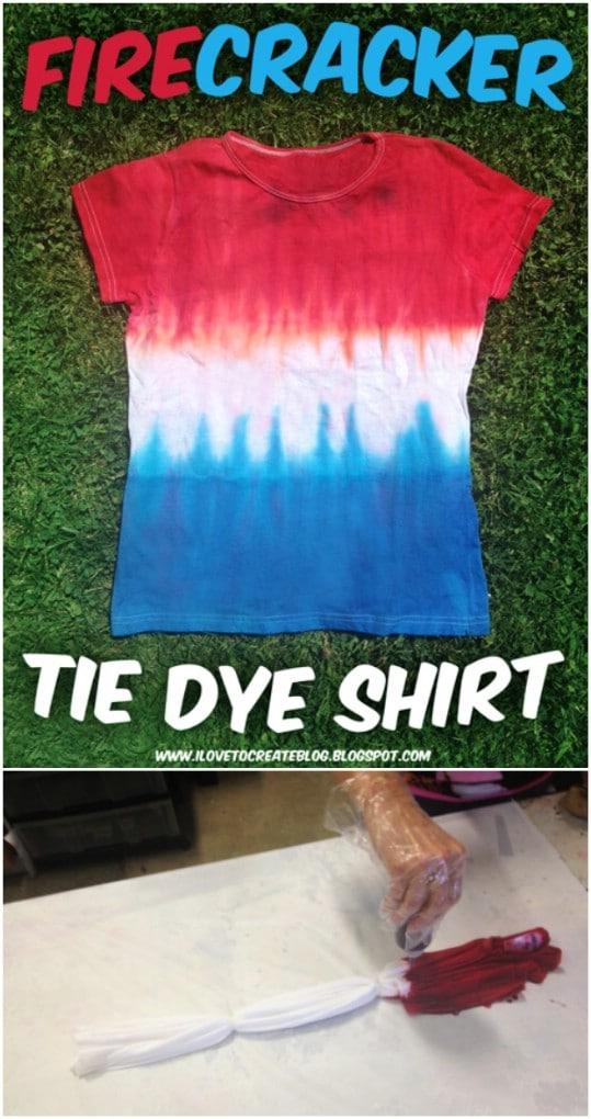 DIY Tie Dye Patriotic T-Shirt