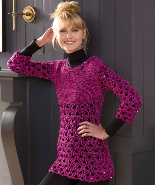 Easy Crochet Glitz And Glamour Tunic