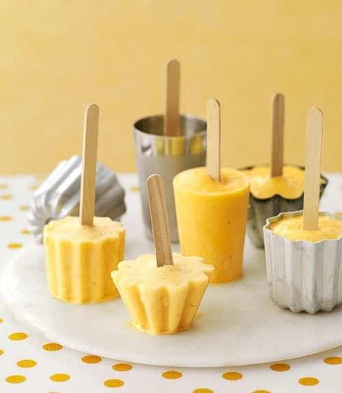 Easy Orange Banana Smoothie Pops