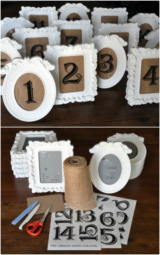 Rustic Vintage Table Numbers