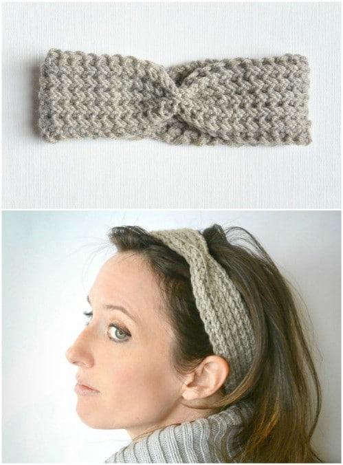 Half Fisherman Knot Knitted Headband