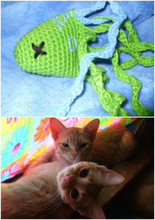 Cute Seasick Crochet Cat Toy