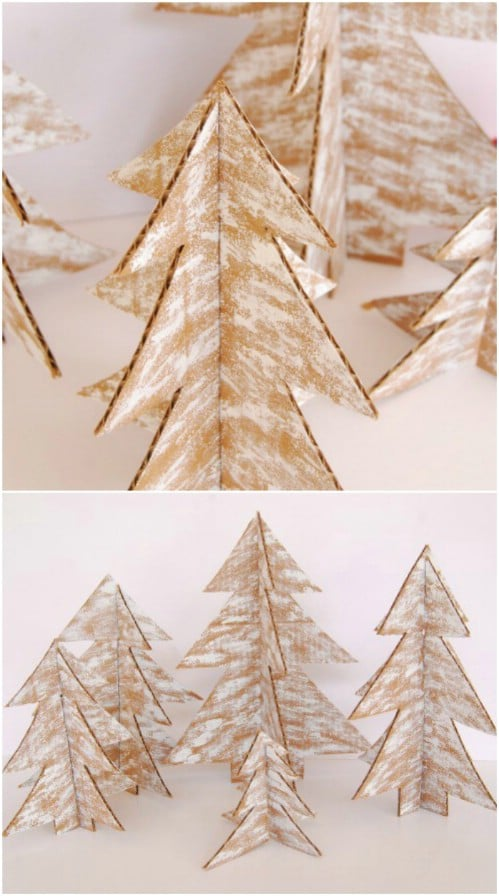 Rustic Cardboard Christmas Trees