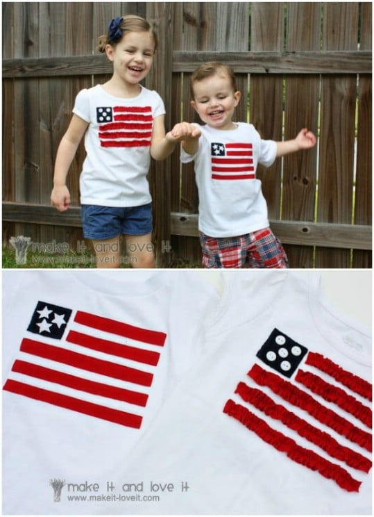 American Flag Boys And Girls T-Shirts