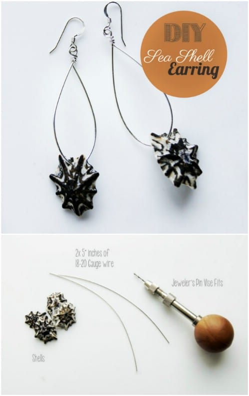 Easy Shell Wire Earrings