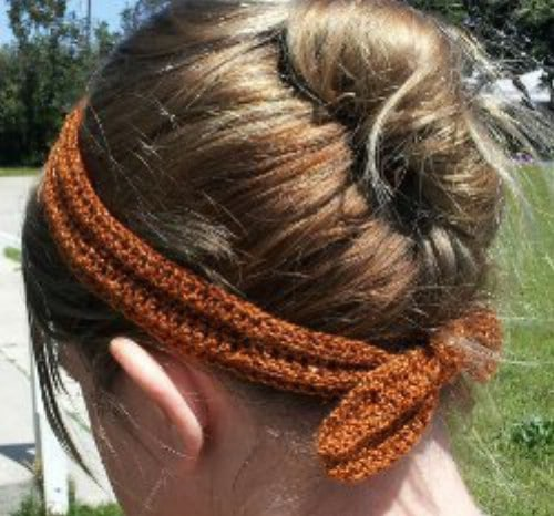 Easy Crochet Sparkle Headband