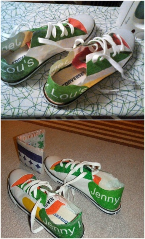 Upcycled Grocery Bag Sneakers