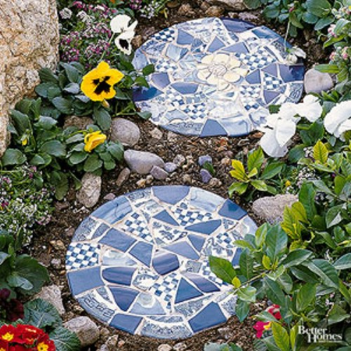 Beautiful Mosaic Stepping Stones