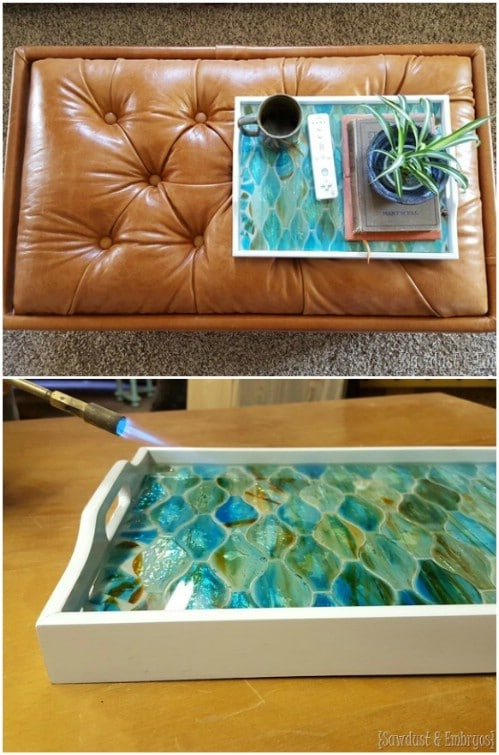 Geometric Mosaic Serving Tray