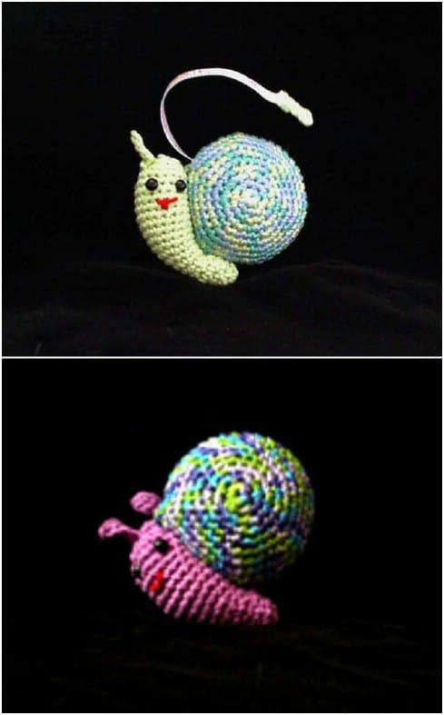 Crochet Snail Tape Measure