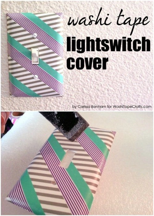 Washi Tape Covered Switch Plate