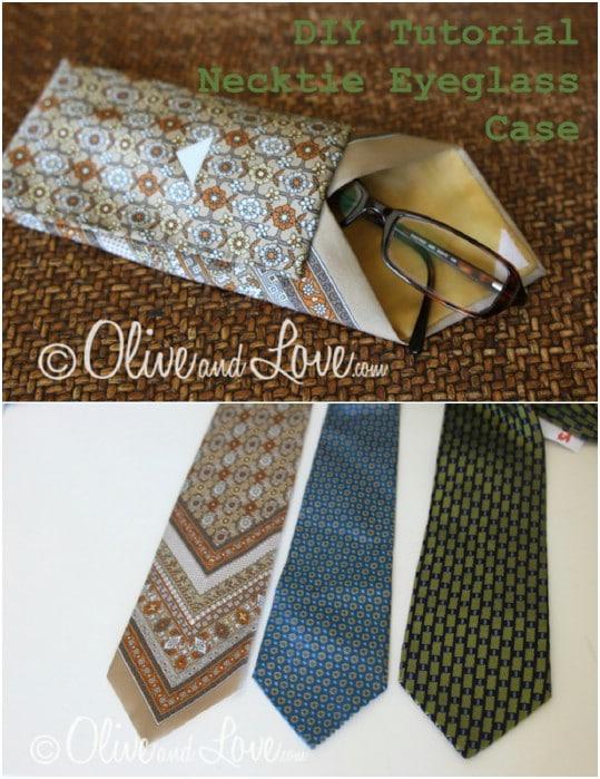 Easy DIY Necktie Eyeglasses Case