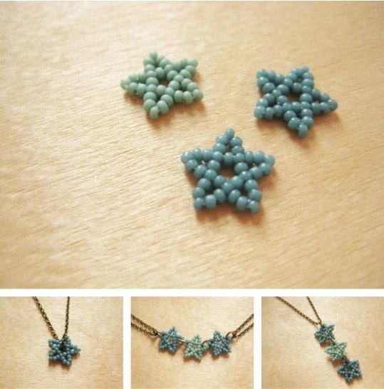 DIY Beaded Stars Jewelry