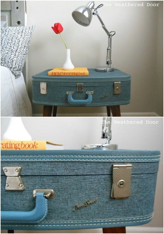 Easy DIY Suitcase Stand