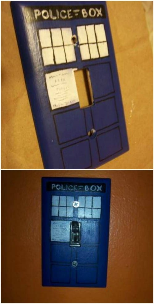 Dr. Who Inspired Light Switch Cover