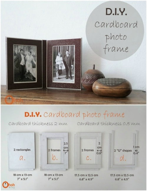 Upcycled Cardboard Photo Frame