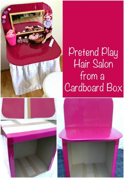 Pretend Play Cardboard Dressing Table