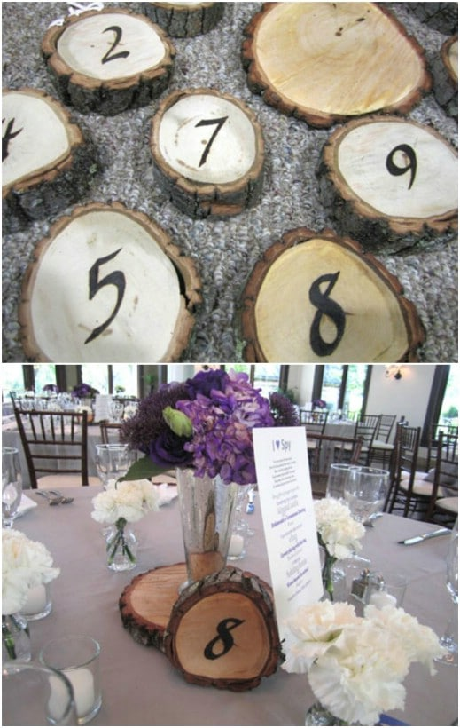 DIY Rustic Wooden Table Numbers