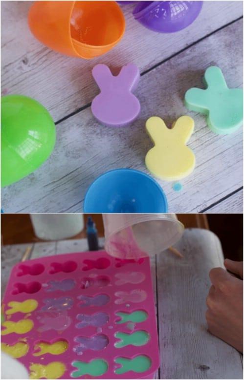 Adorable Homemade Bunny Soaps