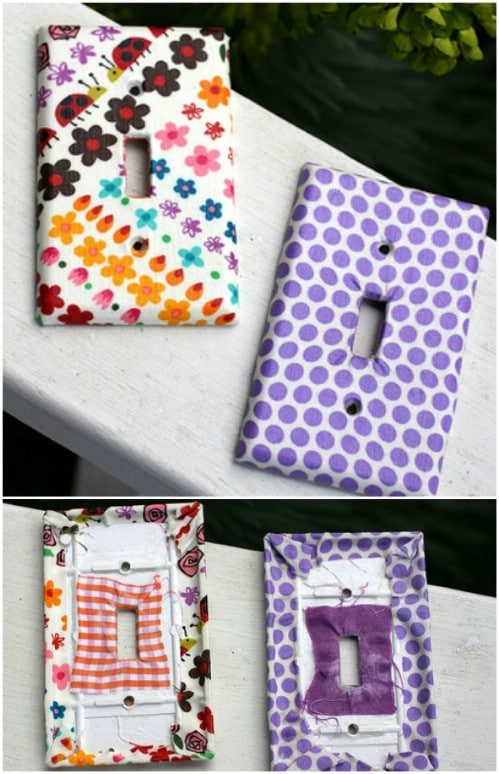DIY Fabric Covered Switch Plates
