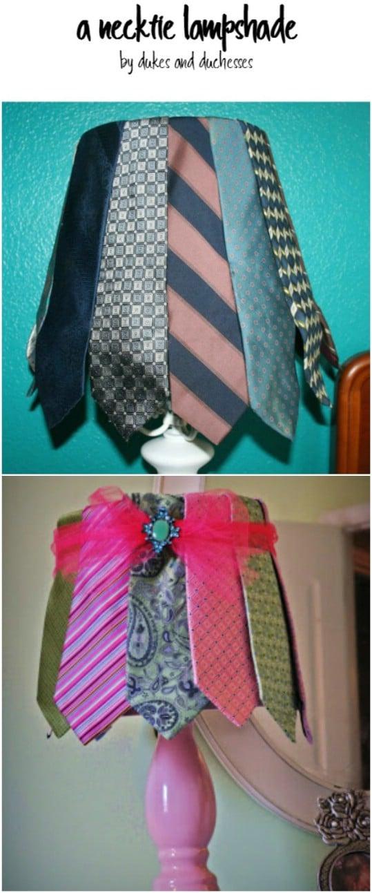 Great Repurposed Necktie Lampshade