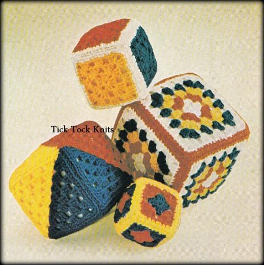 DIY Crocheted Granny Square Blocks