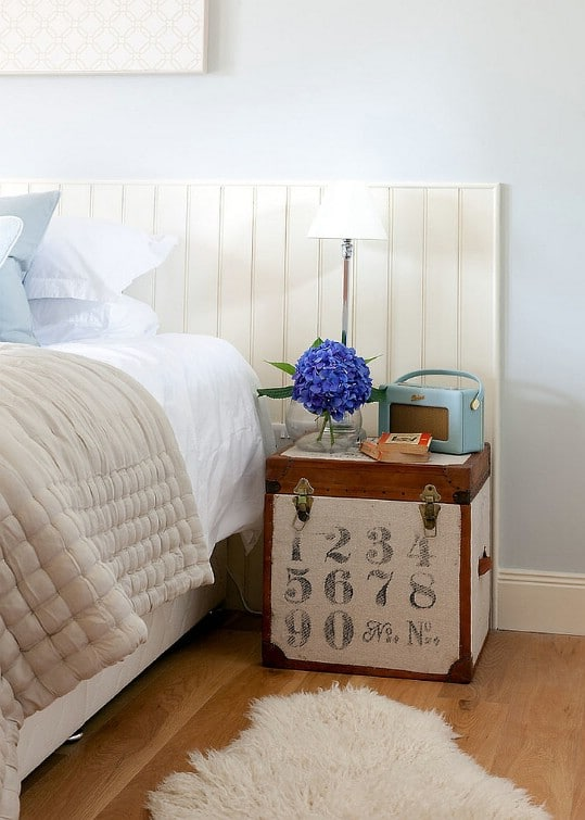 Vintage Trunk Turned Nightstand