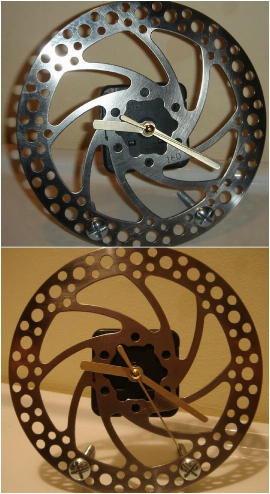 Upcycled Brake Disc Clock