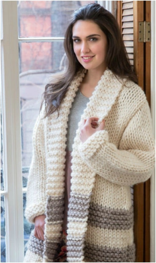 Comfy Car Coat Knit Sweater