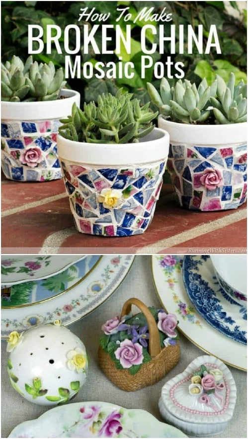 Mosaic Planter Trio