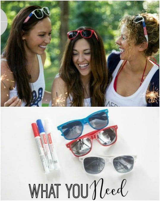 DIY Patriotic Sunglasses