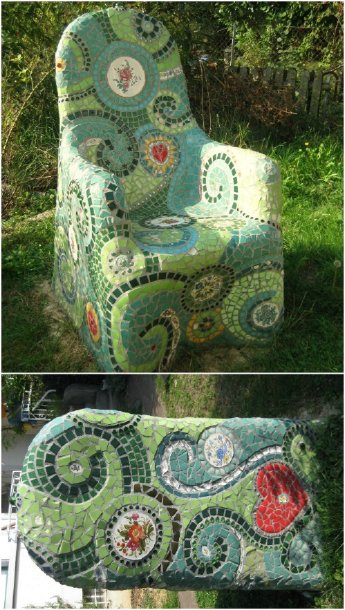 30 gorgeous mosaic projects to beautify your home and garden diy diy mosaic garden chair solutioingenieria Gallery