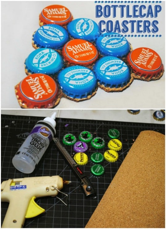 Easy DIY Bottle Cap Coasters