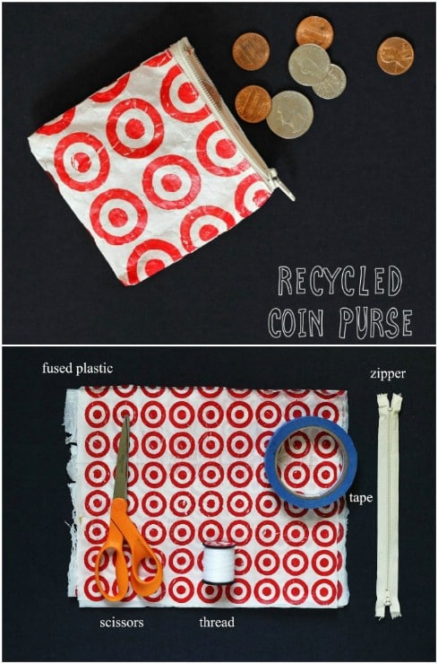 Upcycled Plastic Bag Coin Purse