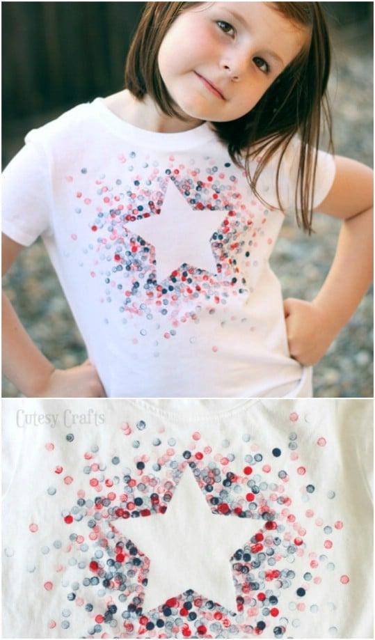 Eraser Stamped Starburst T-Shirt