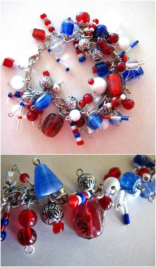 Beautiful DIY Fireworks Charm Bracelet