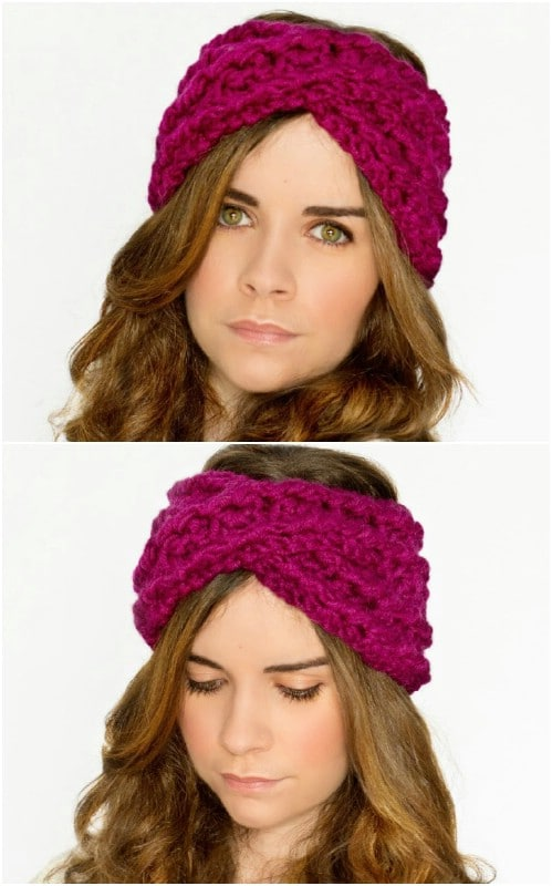 30 Easy And Stylish Knit And Crochet Headband Patterns Diy Crafts