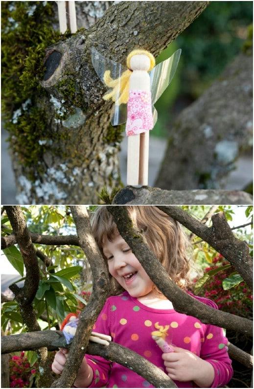 Cute DIY Clothespin Fairy Dolls