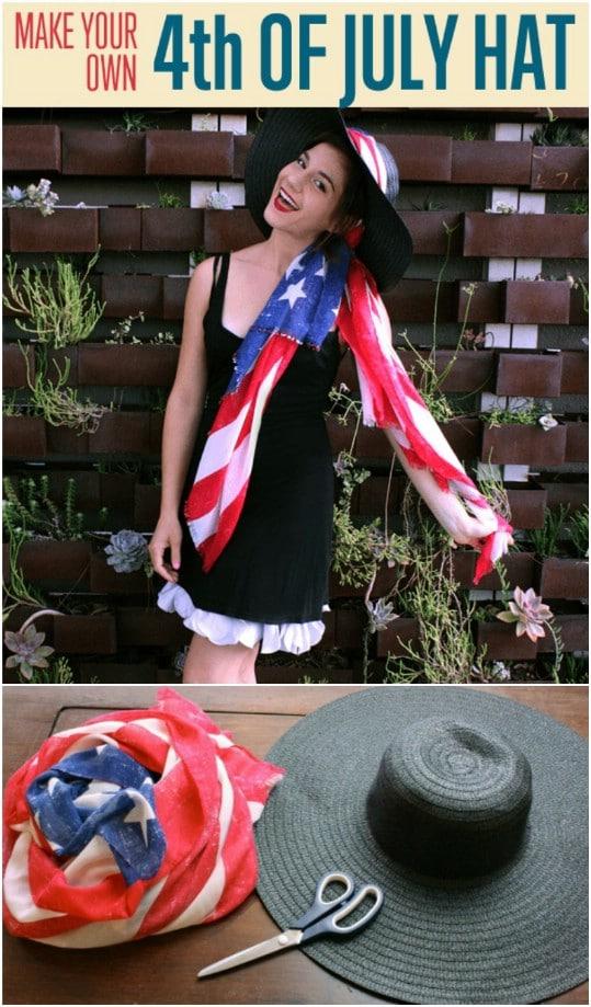 Homemade American Flag Hat