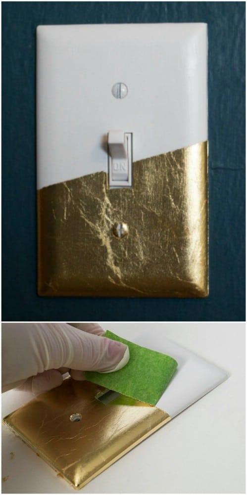 Easy DIY Gold Leaf Cover