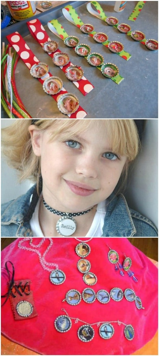 DIY Bottle Cap Jewelry