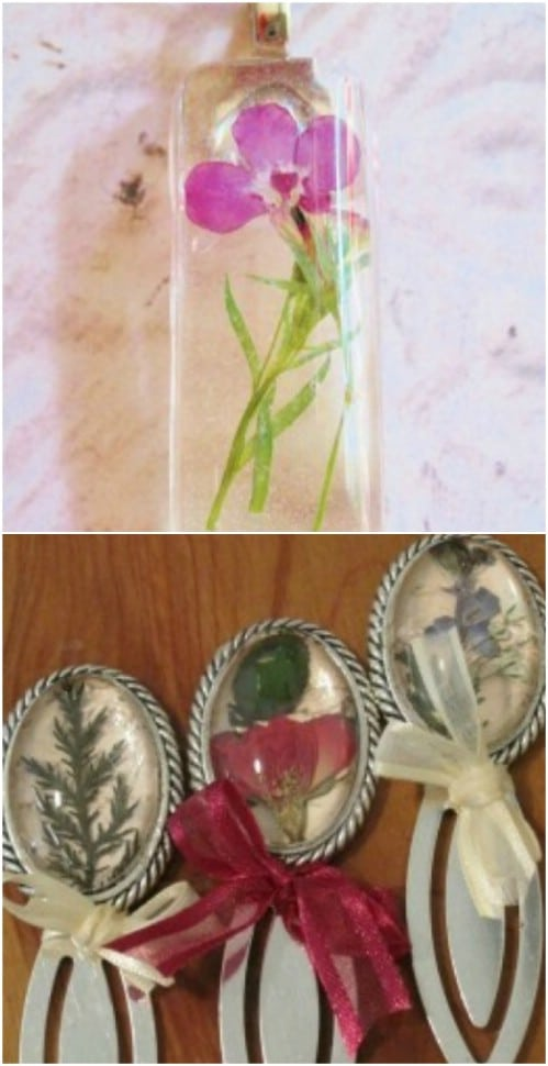 DIY Pressed Flower Resin Jewelry