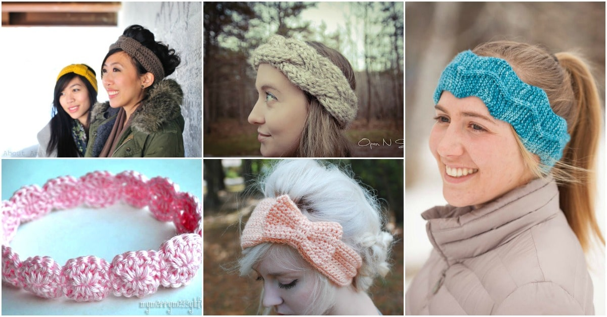 30 Easy And Stylish Knit And Crochet Headband Patterns - DIY   Crafts 88906e0c84f3