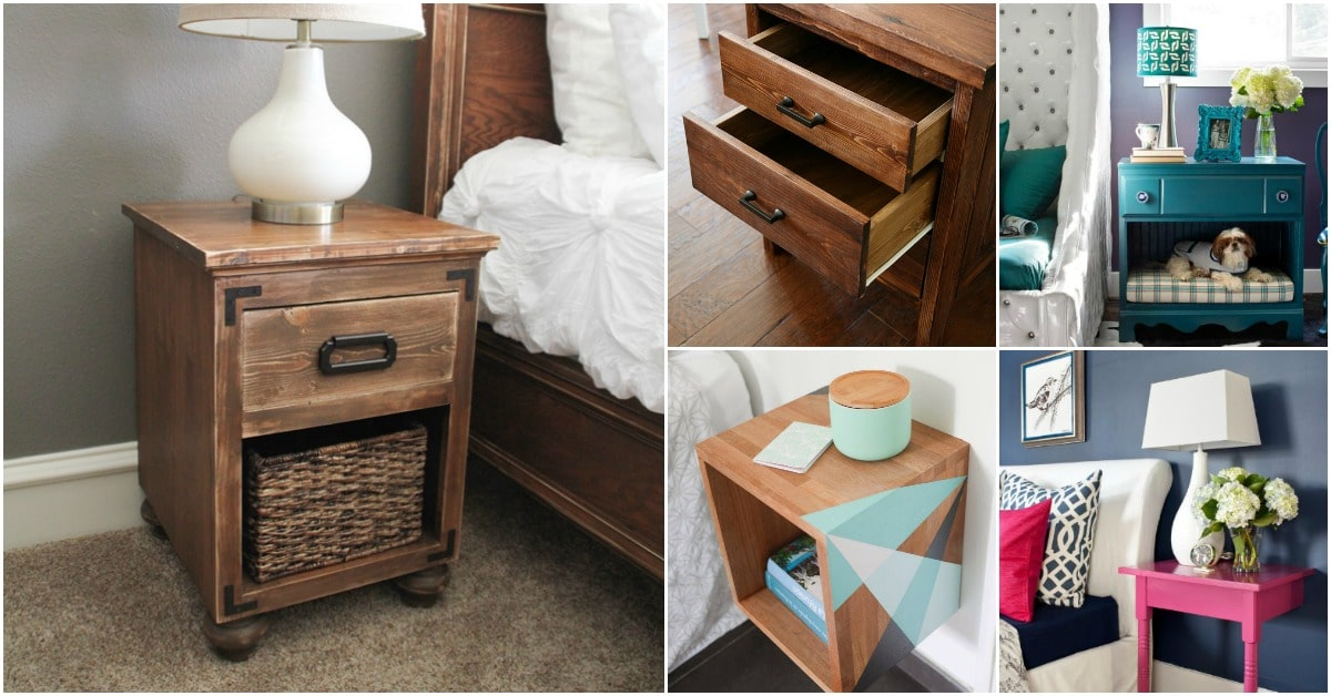 30 amazingly creative and easy diy nightstand projects for Simple nightstand designs