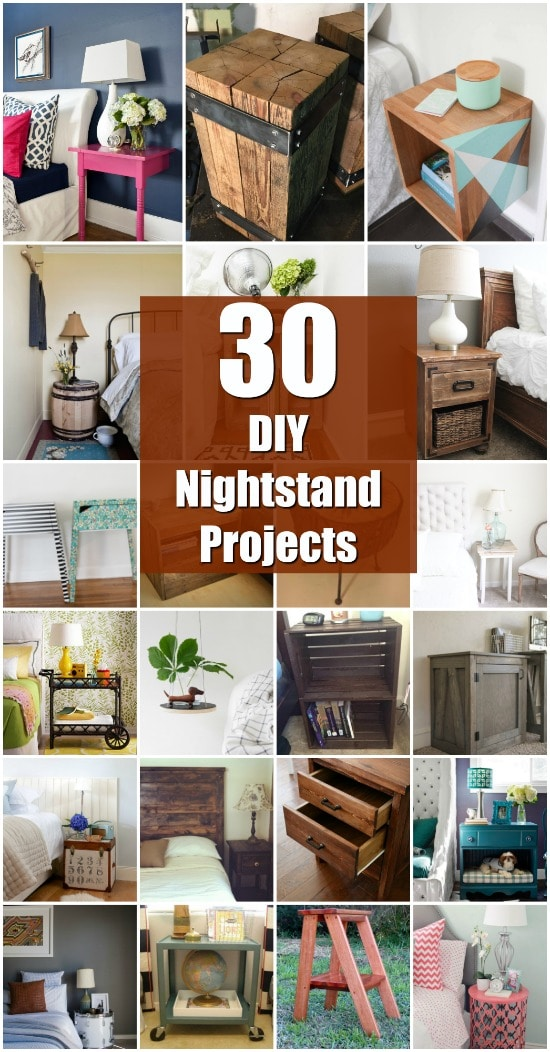 30 Amazingly Creative And Easy DIY Nightstand Projects - Lots of repurposing projects here!