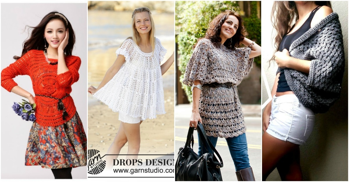 eb17e0bc0 30 Beautiful Women s Sweaters And Tops You Can Knit Or Crochet ...