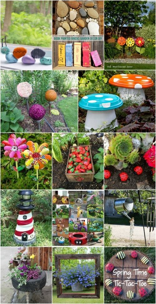 30 Adorable Garden Decorations To Add Whimsical Style To ... on Easy Diy Garden Decor id=16273