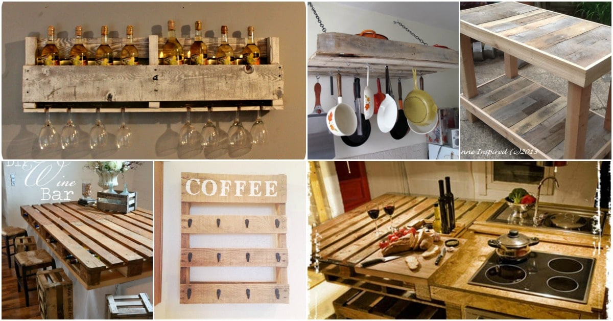 10 brilliantly rustic diy pallet kitchen furniture ideas for Pallet kitchen ideas