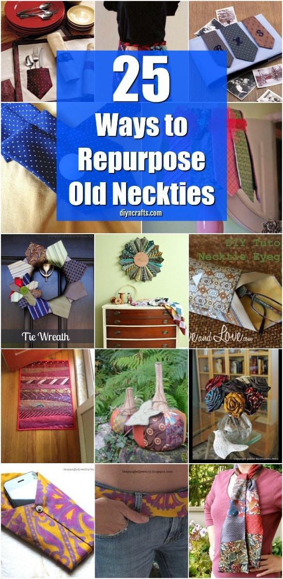25 Cute Repurposing Ideas To Turn Old Neckties Into Wonderful New Things - DIYnCrafts