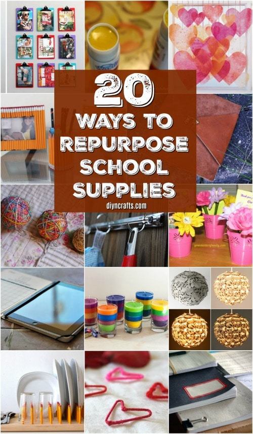 20 Brilliant Ways To Repurpose Those School Supplies This Summer